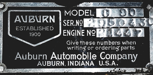 Acd Club - Technical Documentation For Auburn 8-90 1928